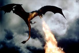 Le dragon cracheur de feu
